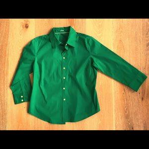 J Crew size xl 3/4 sleeve dress shirt
